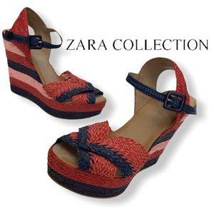 Zara Collection Straw Wedges